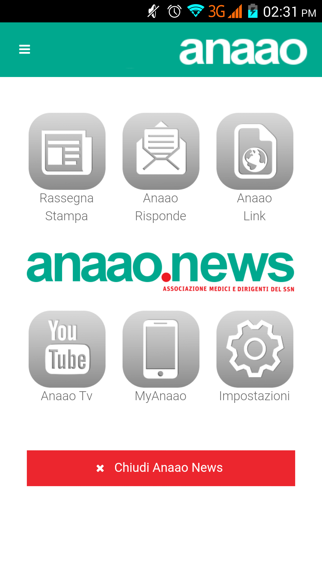 anaao news beta home page